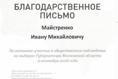 к Майстренко И.М. Выборы