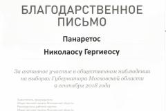 л Панаретос Н.Г. Выборы
